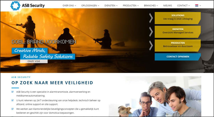 Nieuwe website ASB Security